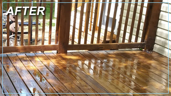 After Deck Cleaning Power Washing Services