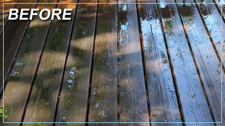 Before Deck Cleaning Power Washing Services